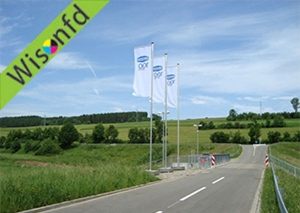 outdoor advertising flags product ID WF001