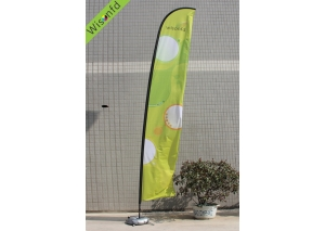 fiber+Aluminum beachflag,flying banner 5m product ID WB006