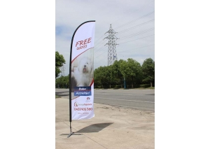 all fiber beachflag,flying banner 3.9m product ID WB009