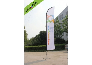 all Aluminum beachflag,flying banner 4.5 WB013