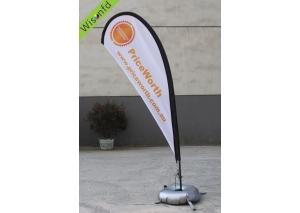 fiber+Aluminum teardrop banner 3m WT002