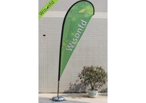 fiber+Aluminum teardrop banner 5.5m WT007