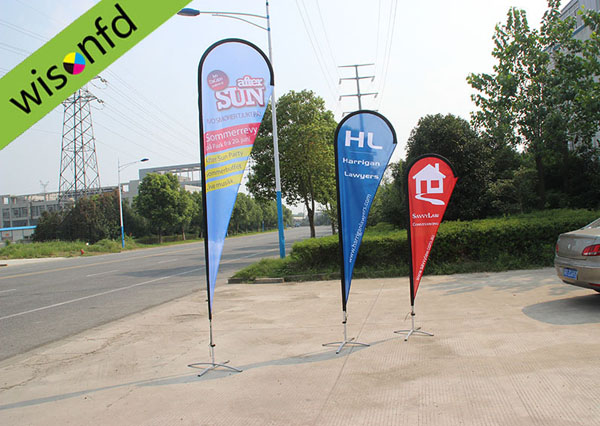 all Aluminum teardrop banner 4.5 WT013